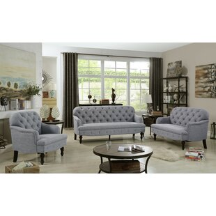 Digirolamo 3 Piece Living Room Set