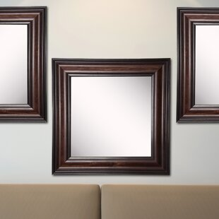 Kavanaugh Square Walnut American Wall Mirror (Set of 3) ByDarby Home Co