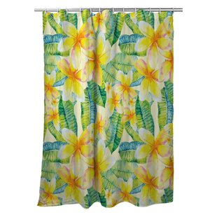 Tropical Plumeria Single Shower Curtain