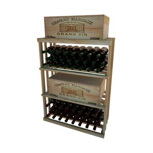 1 Column Rectangular 48 Bottle Floor Wine Rack by Wine Cellar Innovations