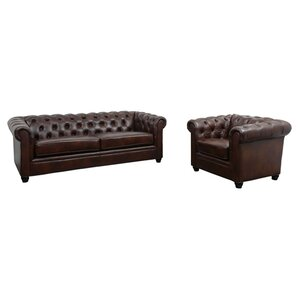 Trent Austin Design Harlem 2 Piece Leather Living Room Set
