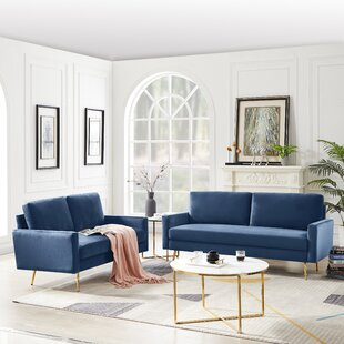 Scope 2 Piece Configurable Living Room Set by Mercer41