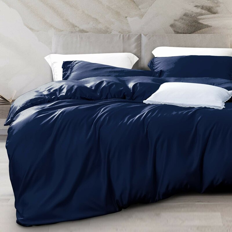 Winston Porter Satin Duvet Cover Set