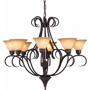 Volume Lighting Windsor 8-Light Shaded Chandelier