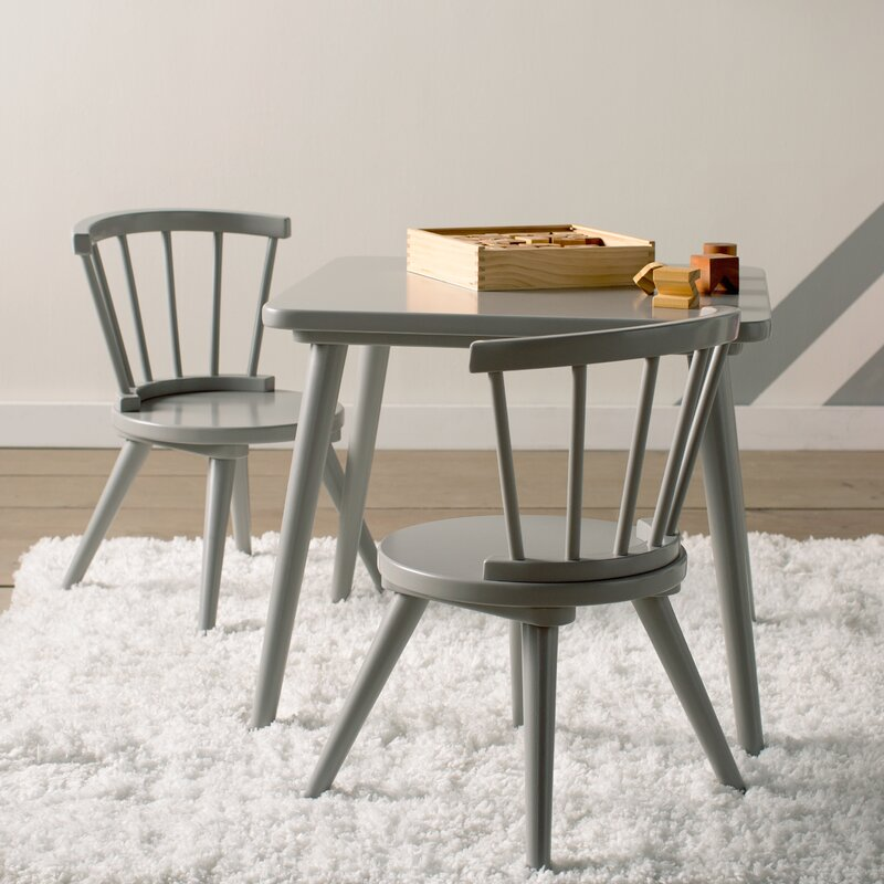 Justine Windsor 3-Piece Table and Chair Set