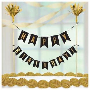 Birthday Cake Paper Disposable Pick (Set of 6)