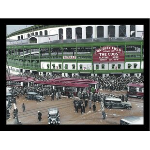 'Wrigley Field' Print Poster by Darryl Vlasak Framed Memorabilia by Buy Art For Less