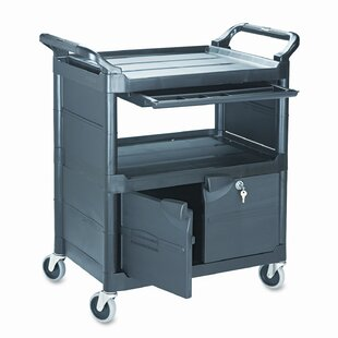 Commercial Utility Cart with Locking Doors by Rubbermaid