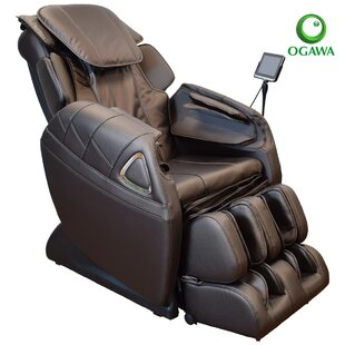Refresh Leather Reclining Heated Full Body Zero Gravity Massage Chair with Ottoman