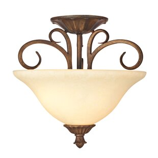 Gosnold 2-Light Semi-Flush Mount by Fleur De Lis Living