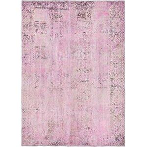 Sela Vintage Persian Hand Woven Wool Rectangle Purple Area Rug
