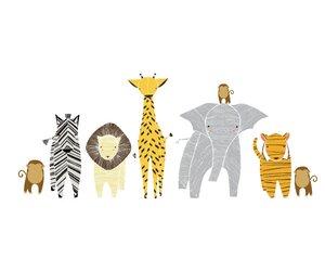 Gingiber 8 Piece Safari Animal Wall Decal Set