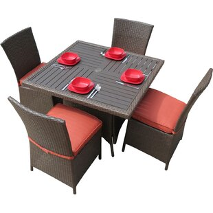 Creative Living Salinas 5-Piece Dining Set with Cushions