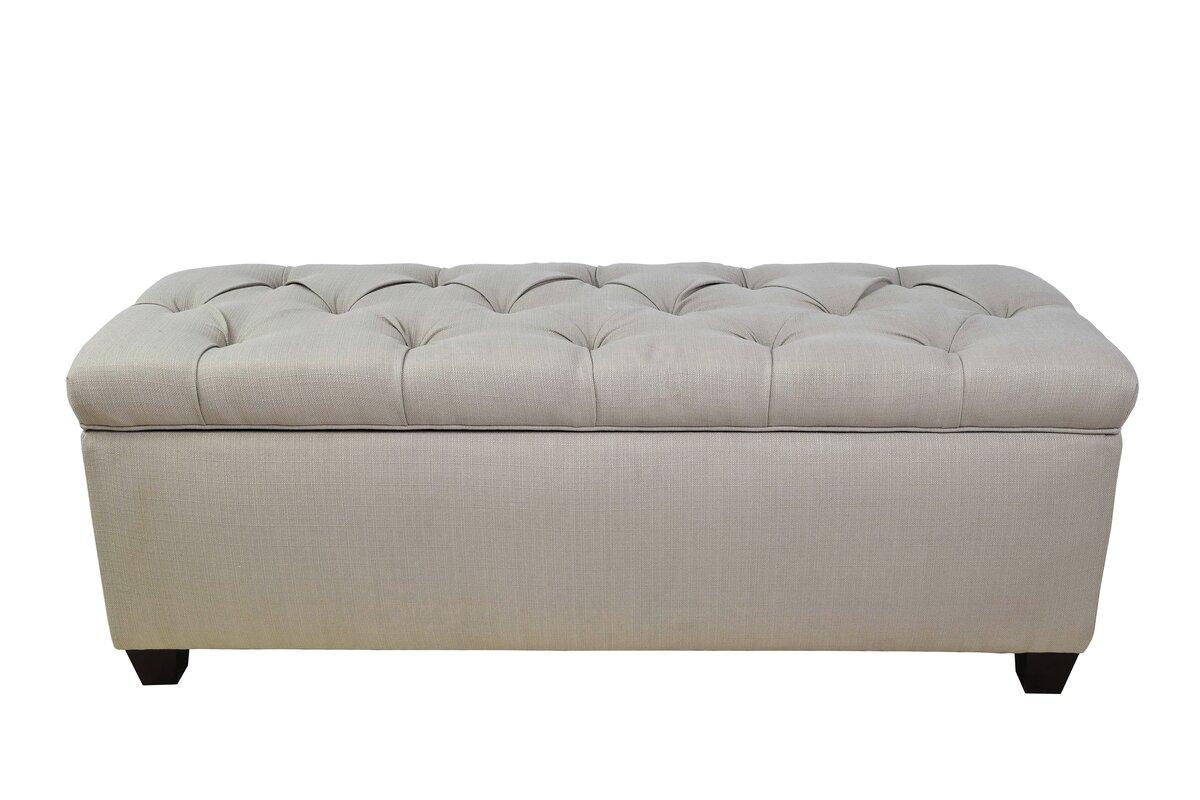 Exceptional Sachi Fabric Storage Bench