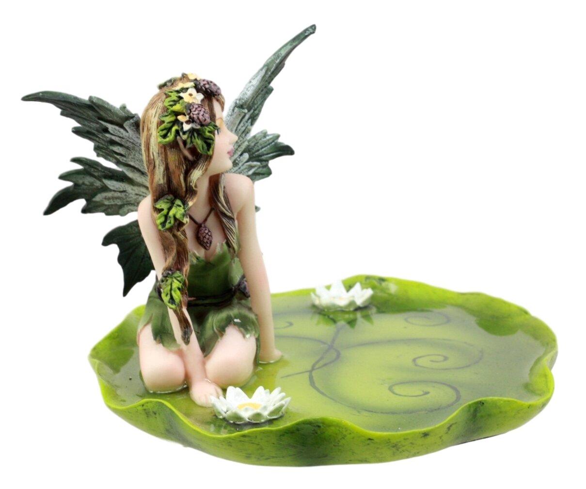 World Menagerie Azcuy Absinthe Fairy Kneeling On Lotus Petal Soap Dish Wayfair
