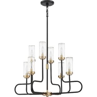 Union Rustic Lonon 8-Light Shaded Chandelier