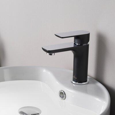 Blossom Single Hole Bathroom Faucet  Finish: Matte Black/Chrome