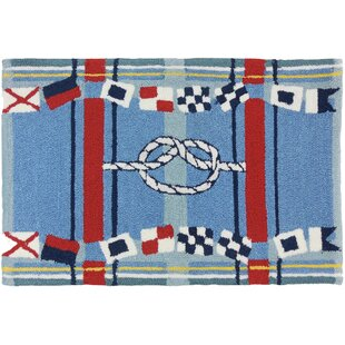Brownsville Nautical Plaid Blue Indoor/Outdoor Area Rug
