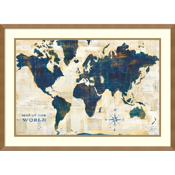 World menagerie world map collage framed graphic art print world map collage framed graphic art print gumiabroncs Gallery