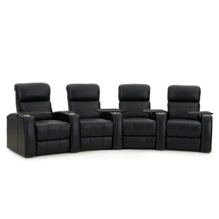 Home Theater Curved Row Seating (Row of 4) by Latitude Run