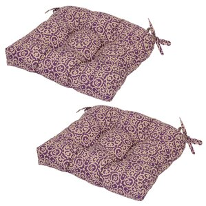Medallion Tufted Seat Pad Outdoor Chair Cushion (Set Of 2)