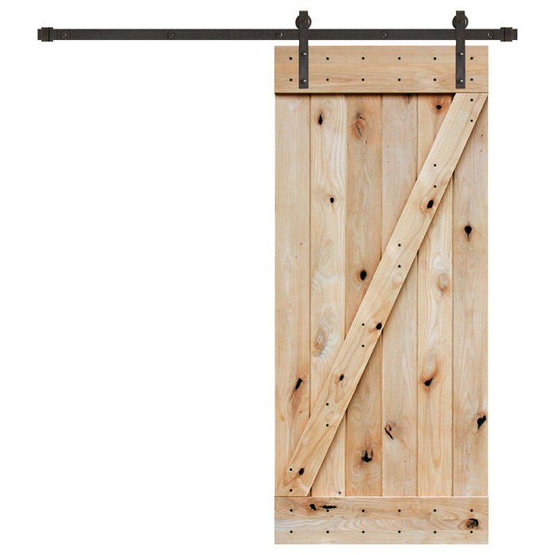 "36"" x 84 Sliding Wood Interior Barn Door"