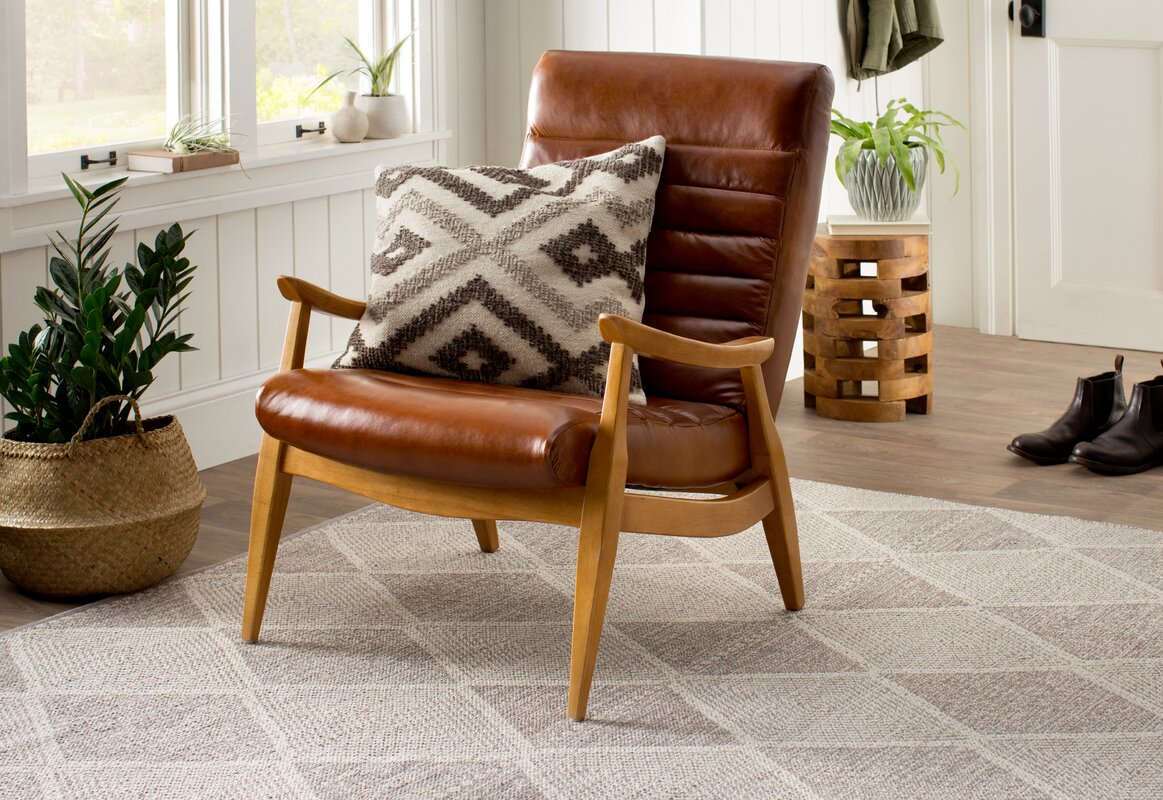 with distressed primrose shop arrivals chair a new plum leather wooden frame brown armchair style retro arm and