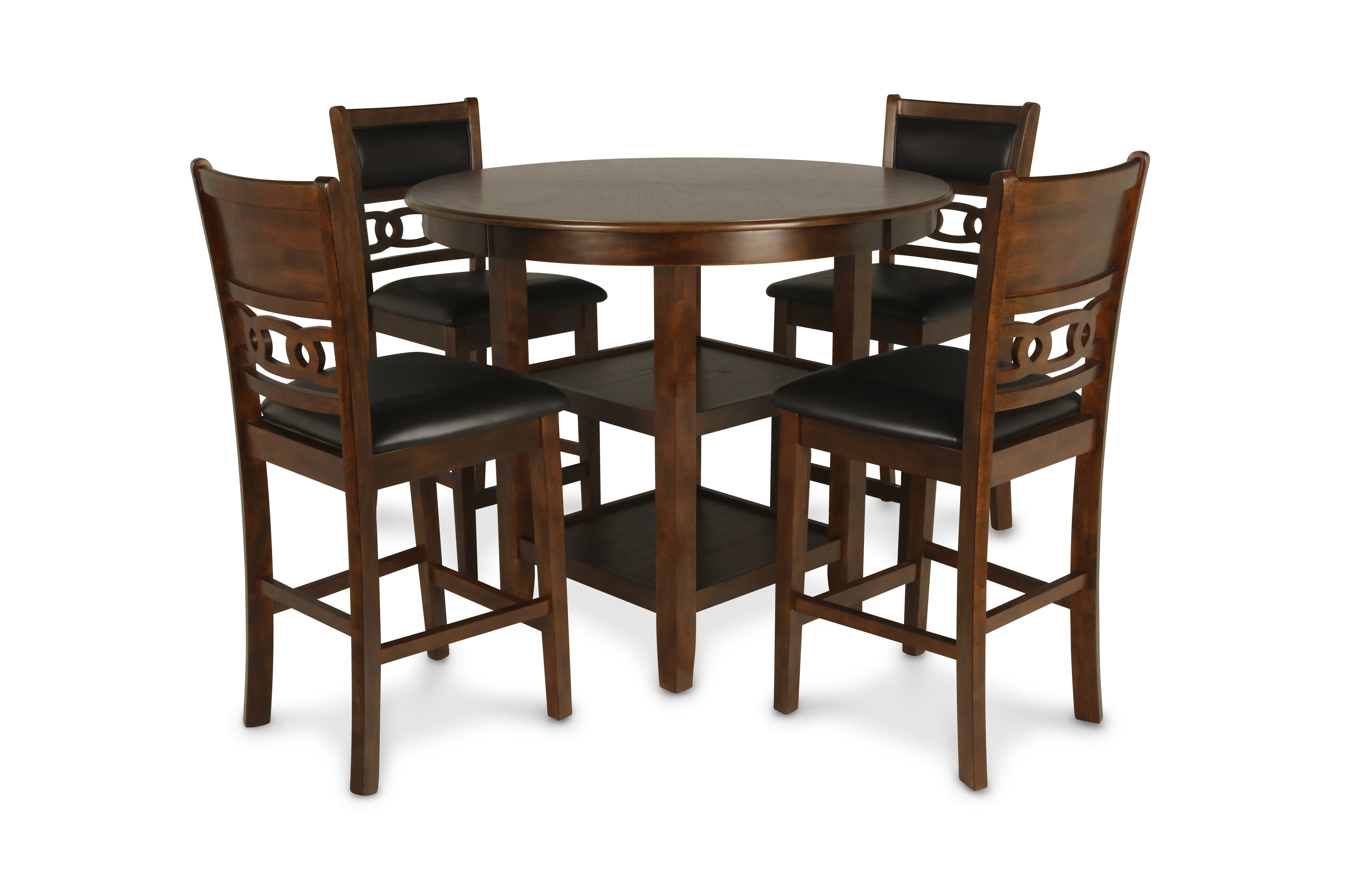 Winston Porter Jackins 5 Piece Rubberwood Solid Wood Dining Set Reviews Wayfair