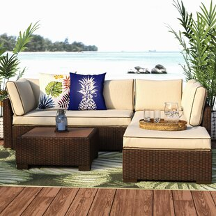 Grande 4 Piece Sectional Set with Cushions by Bay Isle Home