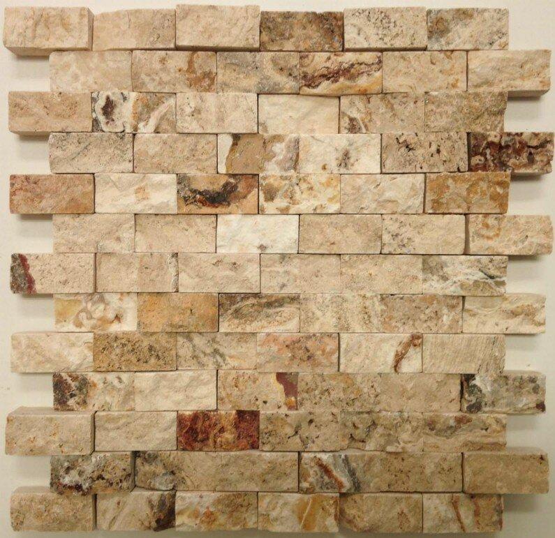 1 X 2 Travertine Splitface Tile In Leonardo