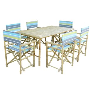 Ted 7 Piece Solid Wood Dining Set by Bay Isle Home