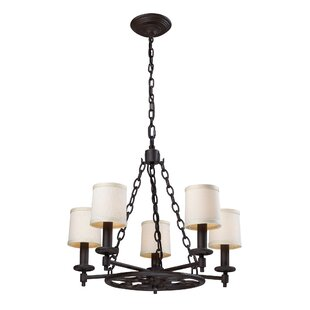Alcott Hill Hedge 5 Light Shaded Chandelier