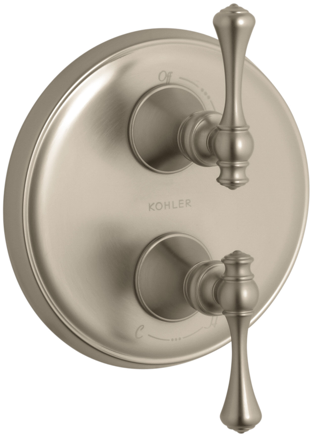 Kohler Revival Valve Trim With Traditional Lever Handle For Stacked Valve Wayfair