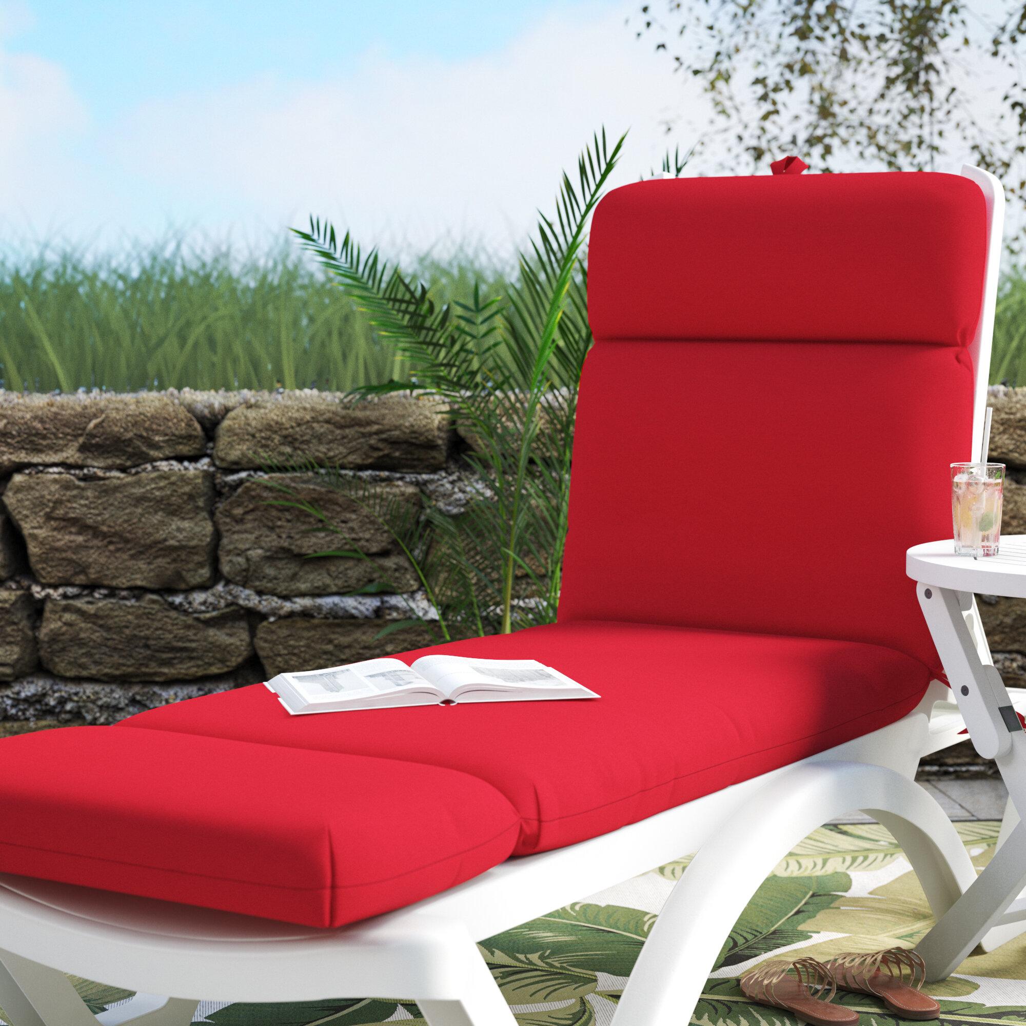 - Beachcrest Home Indoor/Outdoor Sunbrella Chaise Lounge Cushion