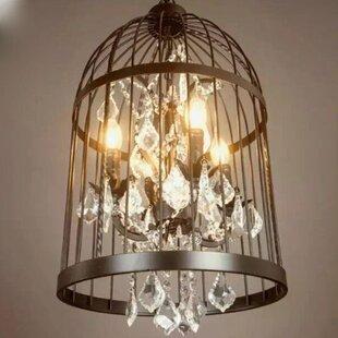 Gracie Oaks Mickey 4-Light Lantern Pendant