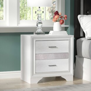 Alessandra 2 Drawer Nightstand