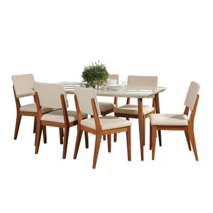 Tasker 7 Piece Solid Wood Dining Set