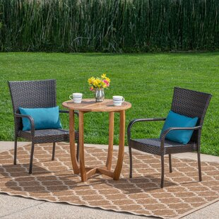 Red Barrel Studio Poojari Outdoor 3 Piece Bistro Set
