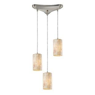 Raynham 3-Light Cluster Pendant by Beachcrest Home