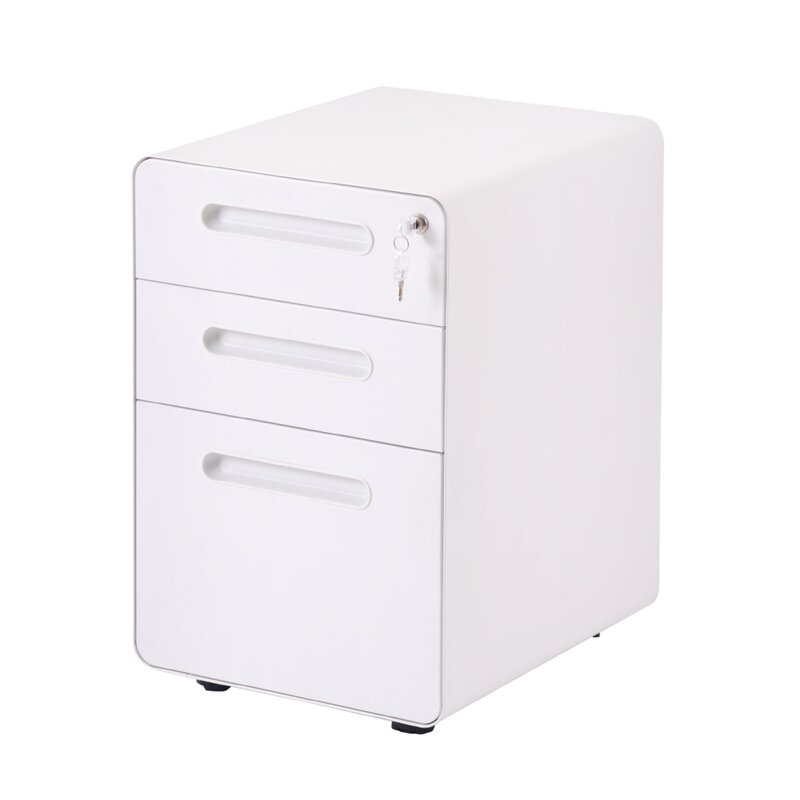 Latitude Run Veli 3 Drawer Mobile Vertical Filing Cabinet Wayfair