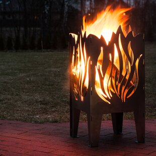 Curonian Flame Solid Steel Wood Fire Pit