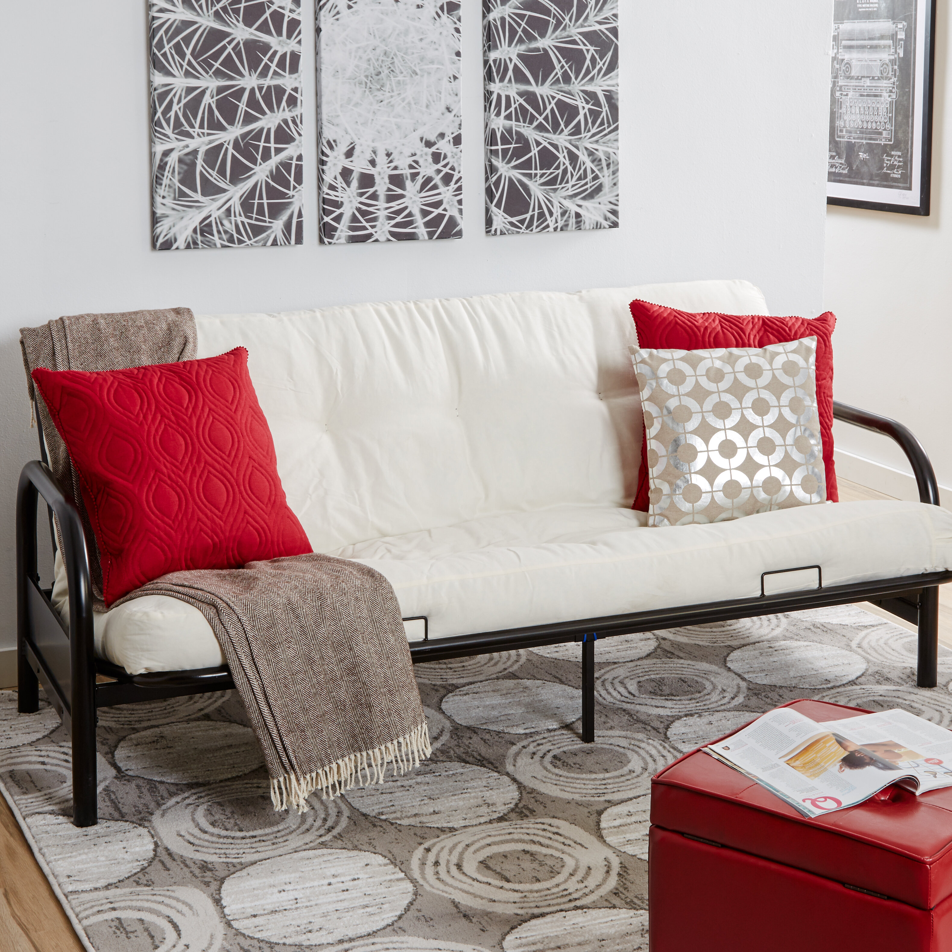 Ebern Designs Full Steel Futon Frame & Reviews | Wayfair