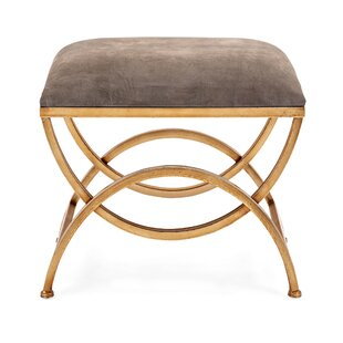 Minetta Suede Metal Bench