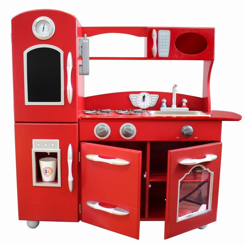 Lovely Teamson Kids Wooden Play Kitchen Set U0026 Reviews | Wayfair