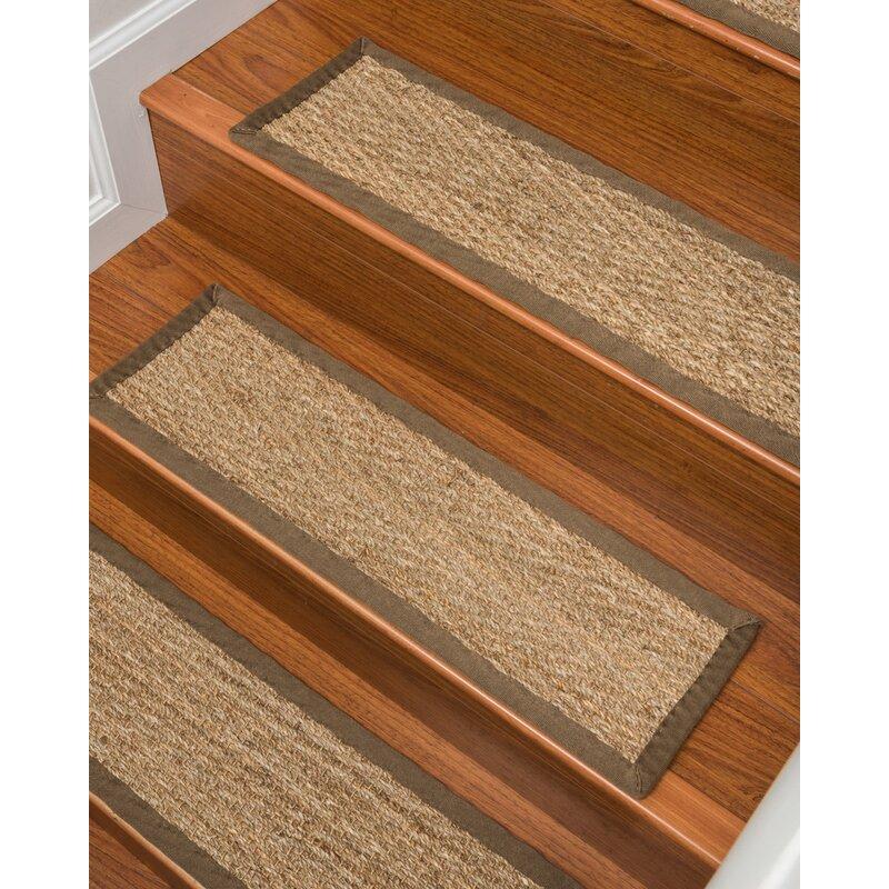 Beach Seagrass Carpet Beige Stair Tread