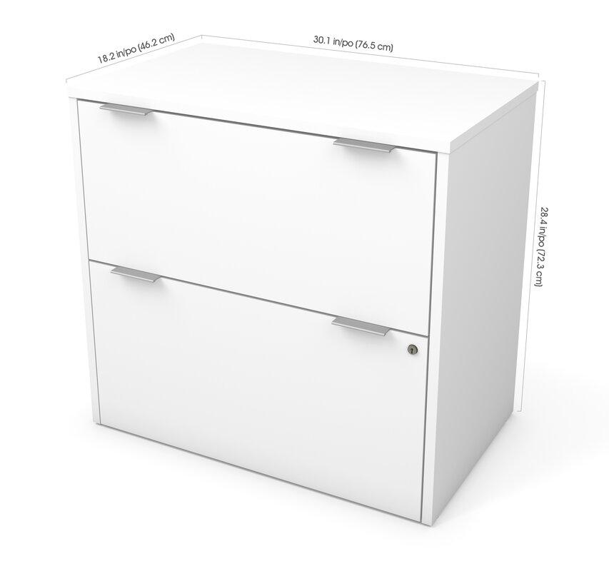 Prattsburgh 2 Drawer Lateral Filing Cabinet