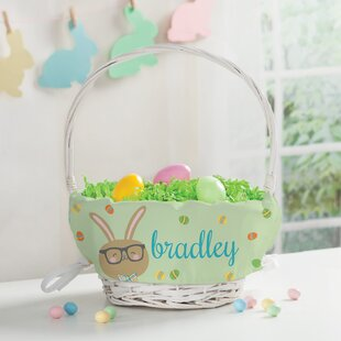 Best Price Bunny Personalized Easter Wicker Basket By The Holiday Aisle