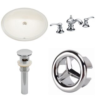Bargain Ceramic Oval Undermount Bathroom Sink with Faucet and Overflow By American Imaginations