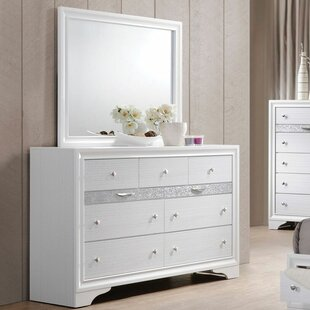 Ivy Bronx Gilliam 9 Drawer Dresser with Mirror