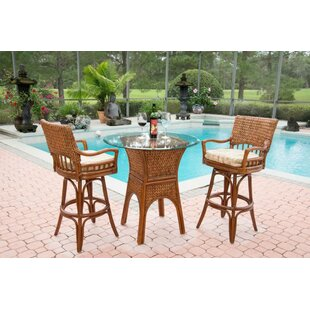 Bay Isle Home Pringle 3 Piece Counter Height Dining Set
